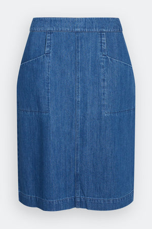 Seasalt Pitching Skirt Ladies Mid Wash Indigo