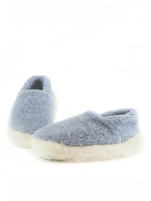 Yoko Full Unisex Light Blue Wool Slippers