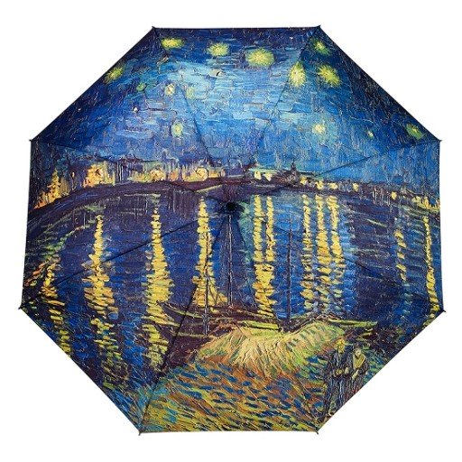 Galleria Van Gogh's Over the Rhone Folding Umbrella - elevate your sole