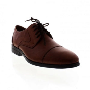 Rieker 11610-24 Mens Brown Lace Up Leather Shoes