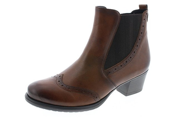 Remonte D3188-24 Brown Leather Heeled Chelsea Boots
