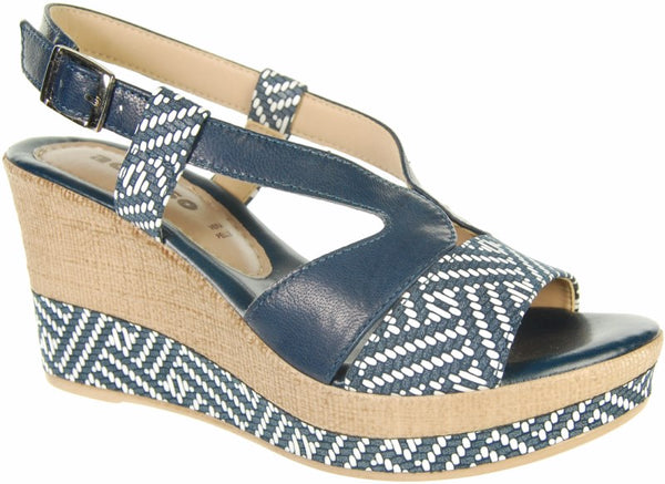 Adesso A3608 Jamila Navy Leather Sandals