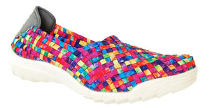 Adesso Caitlin A4360 Tutti Frutti Washed Elasticated Full Shoe - elevate your sole