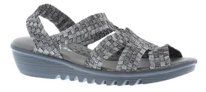 Adesso Esmay A4865 Gunmetal Elasticated Wedge Sandals - elevate your sole