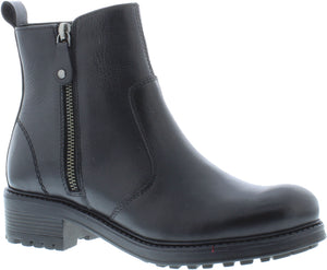 Adesso Amy A5052 Black Leather Chelsea Zip Up Ankle Boots - elevate your sole