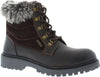 Adesso Josie A5059 Dark Brown Leather Waterproof Combat Walking Ankle Boots - elevate your sole