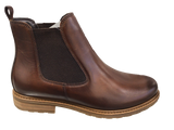 Tamaris 25056-23 Brown Leather Ankle Chelsea Boot - elevate your sole