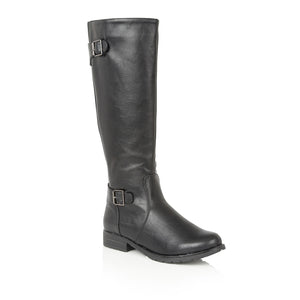 Lotus Beal Black Knee High Boots