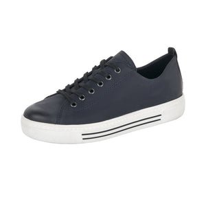 Remonte D0900-14 Ladies Navy Lace Up Shoes