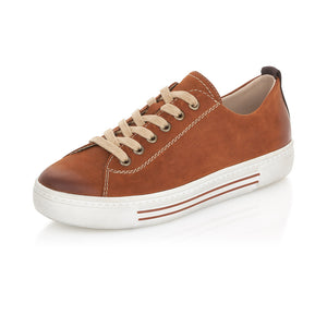 Remonte D0900-22 Ladies Tan Leather Lace Up Shoes