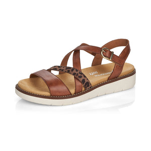 Remonte D2063-24 Ladies Tan Leather Strappy Sandals