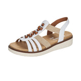 Remonte D2065-80 Ladies White Combination Sandals