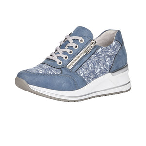 Remonte D3203-14 Ladies Blue Textile Trainers