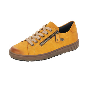 Remonte D4400-68 Ladies Yellow Leather Lace Up Shoe