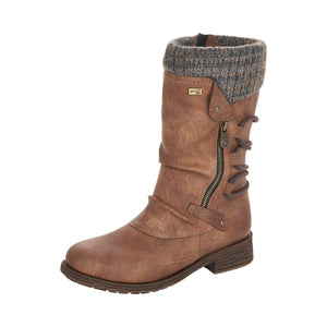 Remonte D8070-25 Ladies Tan Calf Length Boot