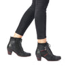 Remonte D8795-02 Ladies Black Lace Up Ankle Boot