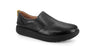 Strive Florida II Ladies All Black Leather Slip On Shoe