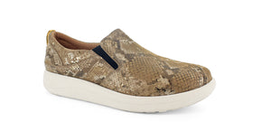 Strive Florida II Ladies Mocha Snake Slip On Shoe