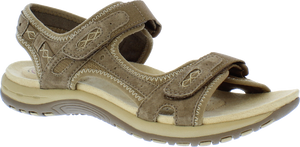 Earth Spirit 30232 Frisco Ladies Sedona Brown Suede Walking Sandals