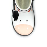 Chipmunk Gertie Cow Black/White Wellies