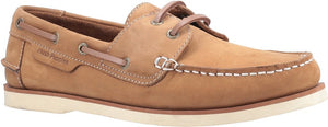 Hush Puppies Henry Mens Chestnut Leather Casual Boat Deck Shoes