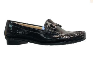 Maria Lya 25836SFL Ladies Black Patent Moccasin