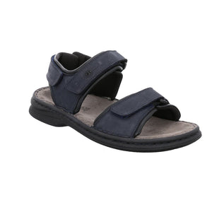 Josef Seibel Rafe Ocean Navy Leather Mens Open Toe Walking Sandals - elevate your sole