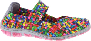 Adesso A5331 Lottie Ladies Tutti Frutti 2 Elasticated Slip On Shoes