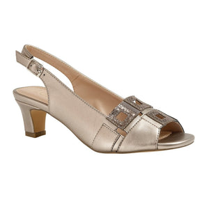 Lotus Aubrey Ladies Pewter Ladies Peep Toe Sandal