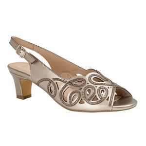 Lotus Marianna Ladies Pewter Evening Sandal