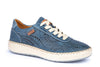 Pikolinos W6B-6996 Mesina Ladies Sapphire Leather Lace Up Trainer Shoes