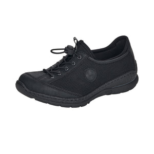Rieker N22M6-00 Ladies Black Casual Trainers