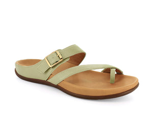 Strive Nusa Ladies Sage Green Leather Sandals