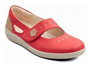 Padders Libra Coral Leather Shoes Wider Fitting - elevate your sole