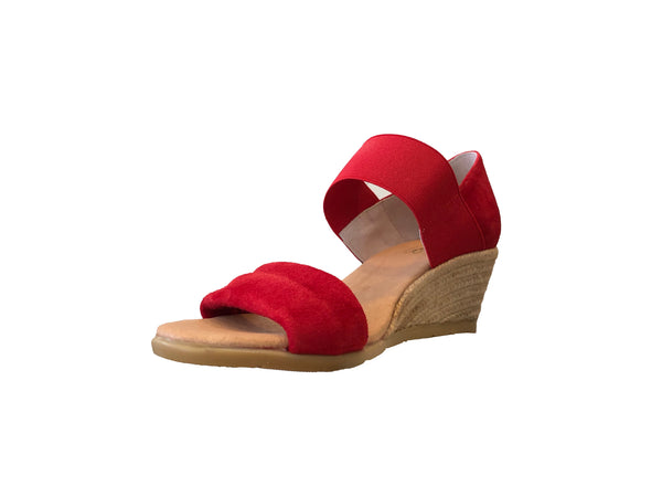 2f9d9973305 Pinaz 421/5 Red Suede Wedge Espadrille Sandals