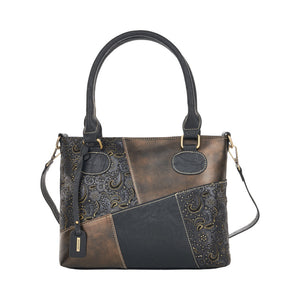 Remonte Q0440-03 Ladies Black With Gold Handbag
