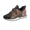 Remonte R2503-24 Ladies Brown With Print Lace Up Trainer