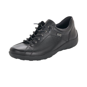 Remonte R3515-02 Ladies Black Leather Lace Up Shoe