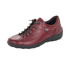 Remonte R3515-35 Ladies Wine Lace Up Slip On Trainer Shoes