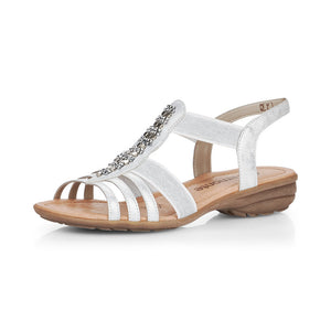 Remonte R3660-90 Ladies White Sling Back Sandal
