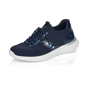 Remonte R5701-14 Ladies Navy Slip on Trainers