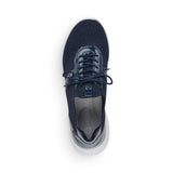 Remonte R5701-14 Ladies Navy Textile Slip on Trainers