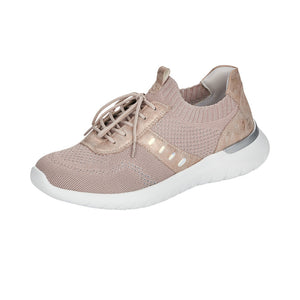 Remonte R5701-31 Ladies Rosa Pink Textile Slip On Trainers
