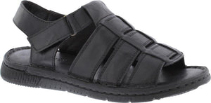 Country Jack 9590 Reggie Mens Black Leather Sandals