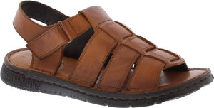 Country Jack 9591 Reggie Mens Tan Leather Sandals