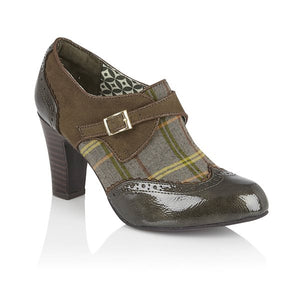 Ruby Shoo Tamsin Ladies Olive Heeled Boots