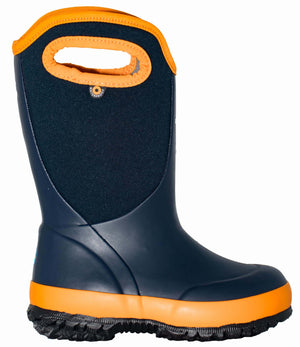 Bogs Slushie Solid Kids Navy Multi Waterproof Boots