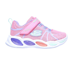 Skechers 302042N Shimmer Beams Sporty Glow Girls Pink Trainers - elevate your sole