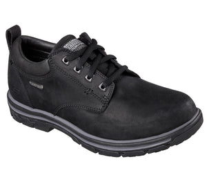 Skechers 64517 Bertan Black Waterproof Lace Up Shoe