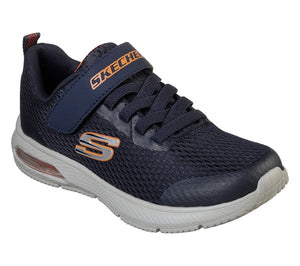 Skechers 98101L Dyna-Air Boys Navy Hook and Loop fastening Trainers - elevate your sole